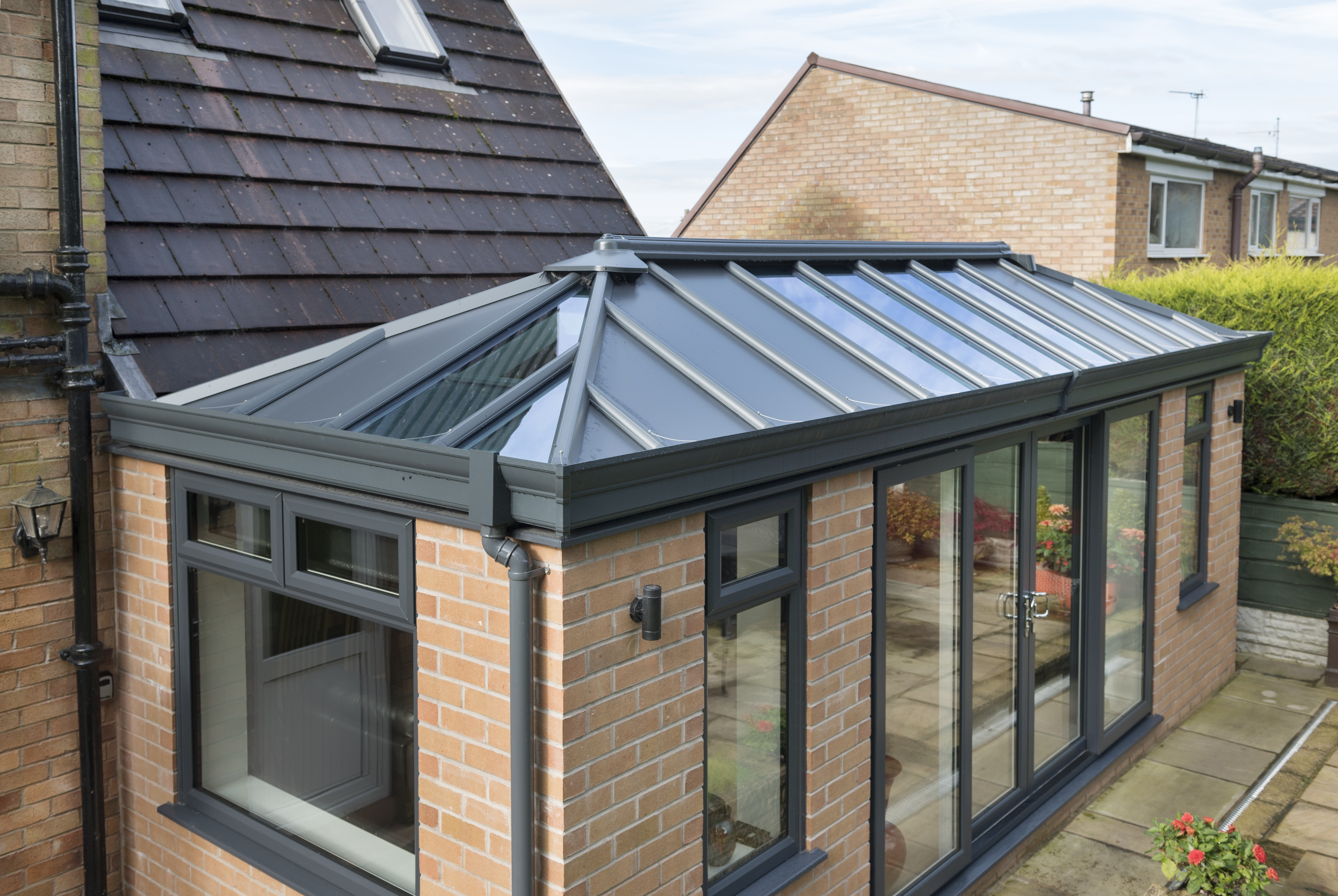 Solid Roof House Extension, Stevenage
