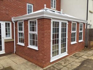 Traditional Brick Orangery with French Doors