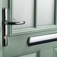 Green composite door, Hertfordshire