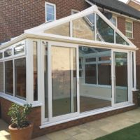 uPVC Patio Doors on Gable Conservatory, Biggleswade