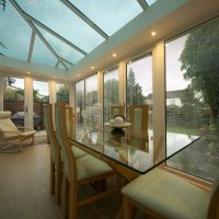Ultraframe Designer Glass Conservatory Roof Stevenage