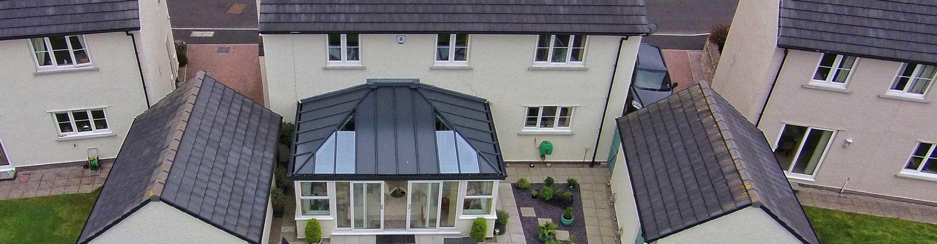 Patio Door Conservatory With Solid Roof, Stevenage