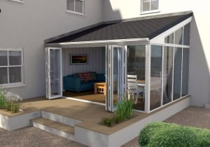 Bi-Fold Doors in an UltraRoof Conservatory