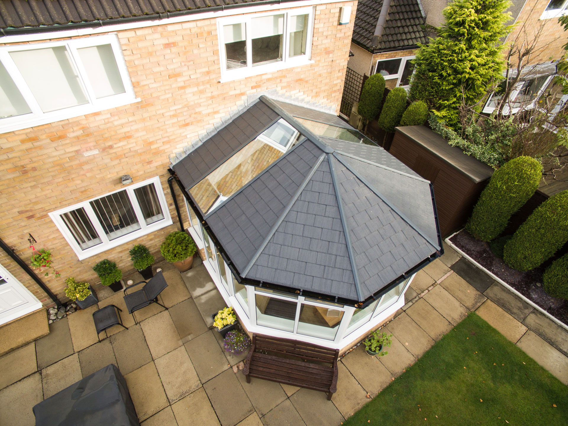 Ultraframe Ultraroof Tiled Conservatory Roof Replacement Stevenage