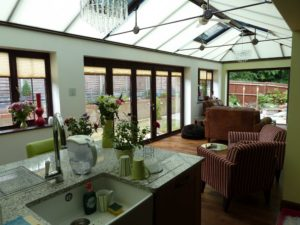 Conservatory Roof with Blinds, Hertfordshire