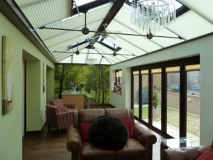 Glass Roof with Blinds