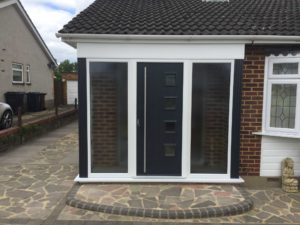 Composite Door in Porch, Ware