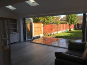 Bi-Fold Doors Fully Opened, Baldock