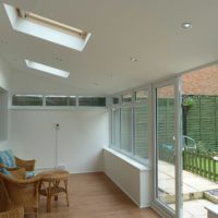 Inside of a tiled conservatory roof, Hertfordshire