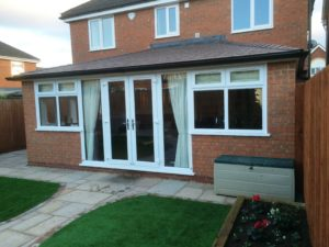 Double Glazed Orangery with Tiled Roof in Sandy